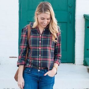 J. Crew Plaid Women's Button Down SZ M